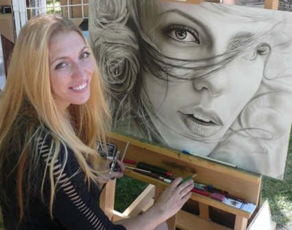 melody owens painting kates roses black & white drawing