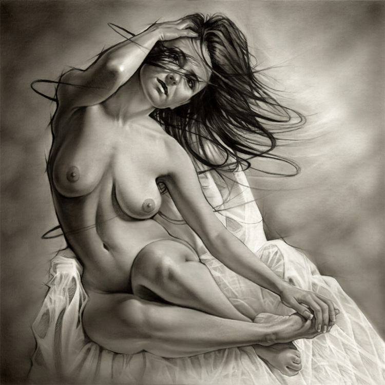 Charcoal Drawing by Melody Owens & Bart Webster