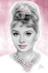 Pink Glam Audrey Hepburn by Melody Owens