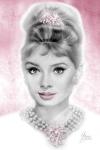 Audrey Hepburn - Pink Glitz by Melody Owens