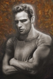 Young Brando Fine Art Painting by Melody