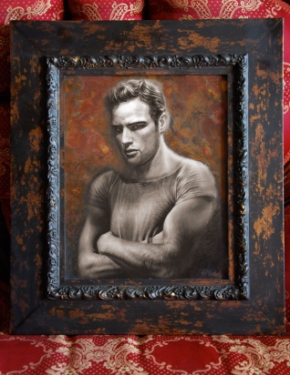 Marlan Brando Painting by Melody Owens