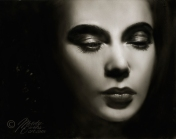 Liquid Lead Painting of Hedy Lamar by Melody Owens