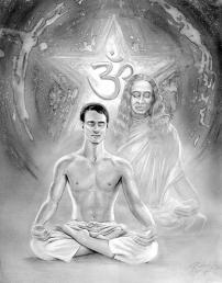 ॐ ओं ओ३म् - Portrait with Yogananda