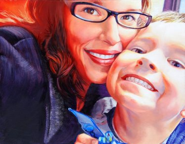 Mother & Child Commission Portrait by Melody Owens