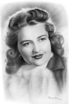 elaine portrait, 1950's style portrait, hollywood style portrait by Melody Owens