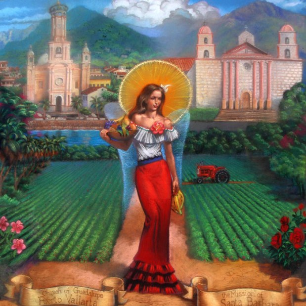 Lady of Harvest at IMadonnari '11 by artists Melody Owens & Phil Roberts