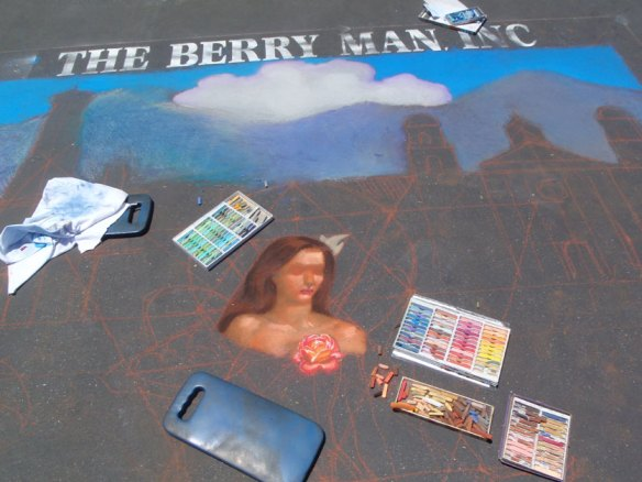 Melody Owens street painting lady of harvest IMadonnari 2011