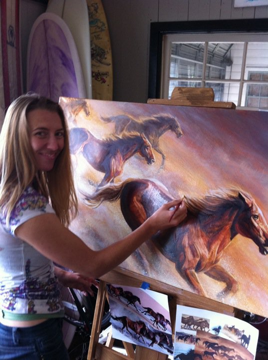 Melody Owens Painting Wild Horses