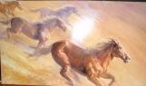 Wild horses painting progress