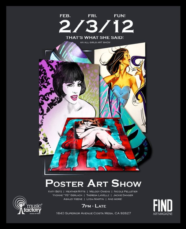 That's What She Said - All Girls Fine Art Poster Show @ Find Art Gallery