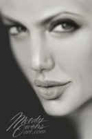Angelina Jolie's lips by Melody Owens, Liquid Lead Art of Celebrity Angelina