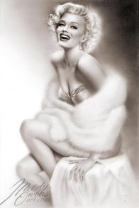 Marilyn Monroe liquid lead painting Melody Owens art