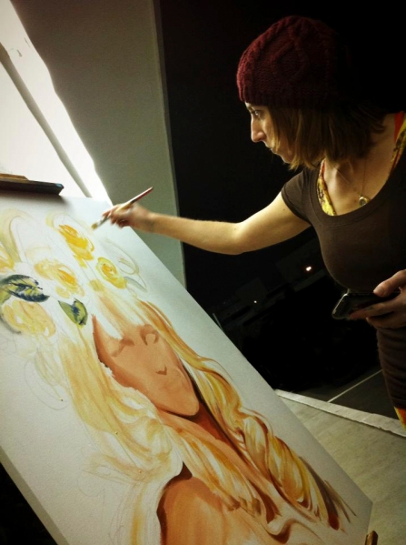 Melody Owens art,  live painting