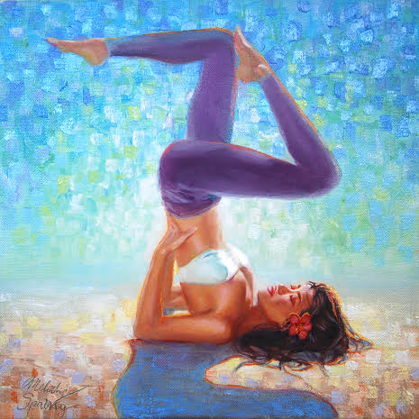 yoga, natural awakenings magazine september cover art, blossom into yoga