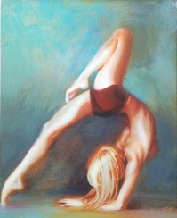 """Beautiful Scorpion"" yoga pose fine art"