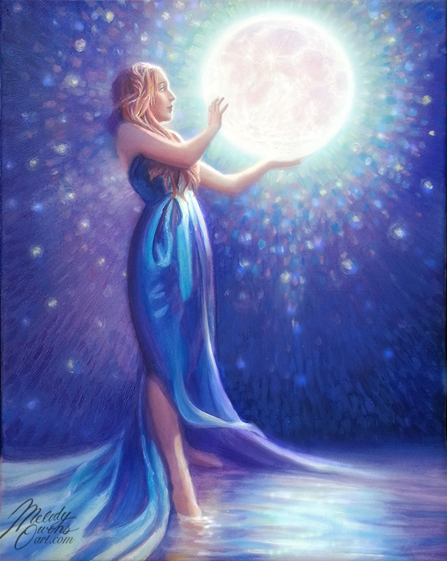 Moving to the Heart This Full Moon ♥ ♥ ♥ | Melody Owens Art