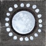 moon, july, new moon, full moon, painting, art, fantasy, mysterious art