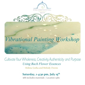 Vibrational Painting Workshop July 15th 1-4pm