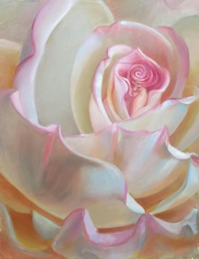 """Peace Rose"" 11x14 Fine Art Giclee $220"